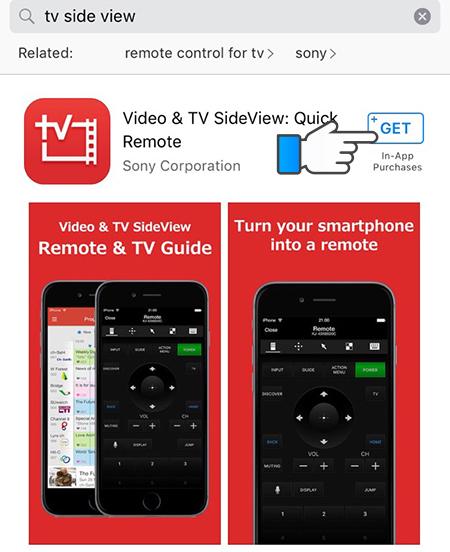 Cách điều khiển tivi Sony bằng Iphone qua ứng dụng Video & TV SideView