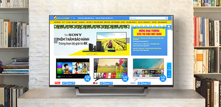 Cách sửa lỗi tivi Sony không xuất hiện trình duyệt web