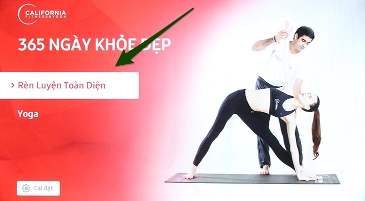 Cách xem video hướng dẫn tập thể hình và yoga trên Smart tivi Samsung 2016