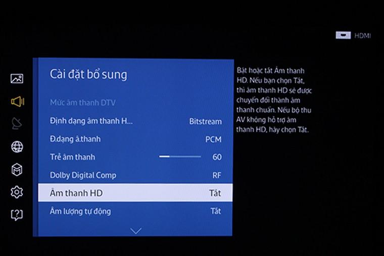 Âm thanh chuẩn HD trên tivi Samsung