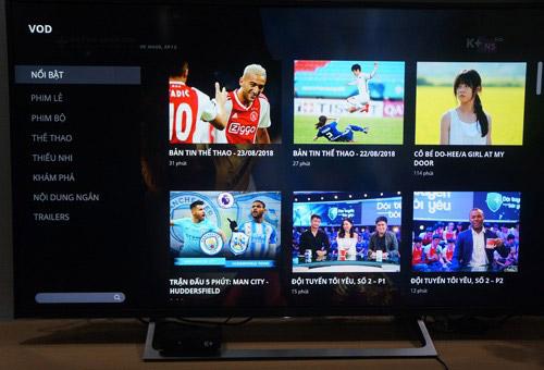 K+ TV box biến tivi thường thành TV internet