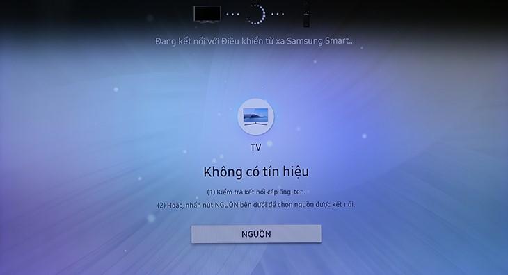Tivi đang kết nối với Remote thông minh.