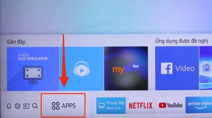 Cách khắc phục các lỗi Youtube hay gặp trên tivi Samsung - B2 chọn Apps