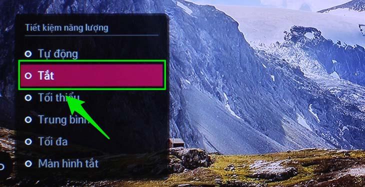 Chỉnh lại chế độ tiết kiệm điện trên tivi là 1 cách để sửa tivi bị tối màn hình
