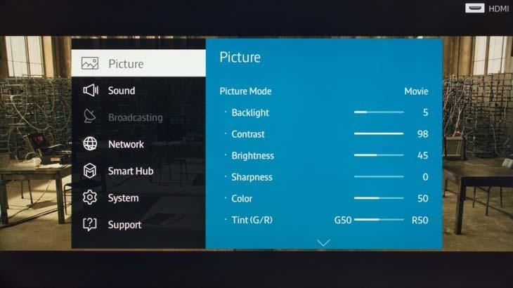 Sửa tivi bị tối màn hình bằng cách chỉnh chế độ hình ảnh trên tivi