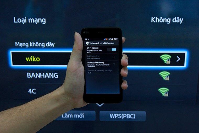 Phát wifi từ điện thoại để kiểm tra tivi hoạt động bình thường hay không